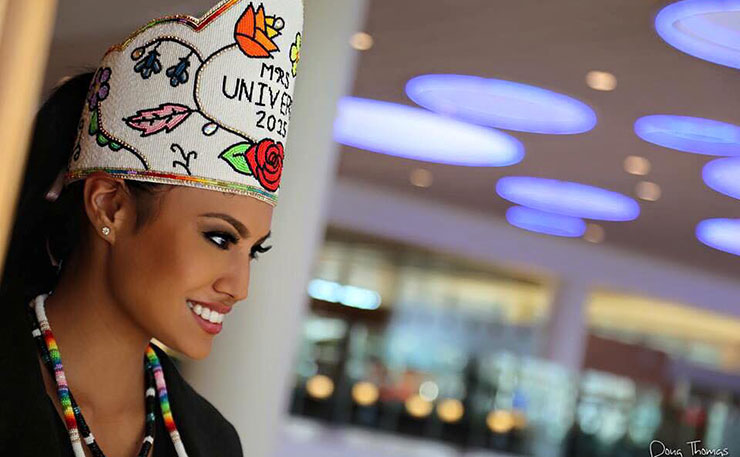2015 Mrs Universe, Ashley Callingbull, a Canadian Aboriginal woman. They Created A Monster. A Mrs Universe Monster. A First Nations Mrs Universe Monster!