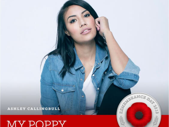 alberta model ashley callingbull creates digital poppy to honour indigenous canadian veterans