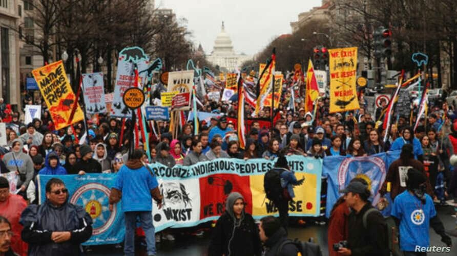 indigenous peoples stage solidarity march washington